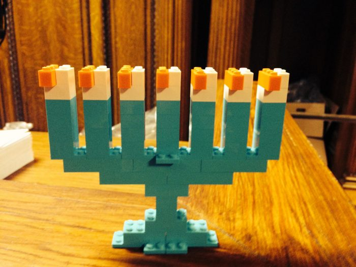 Lego Menorah by Elijah, flickr.com.