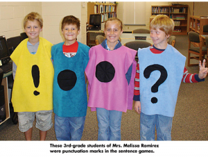 Auburn Elementary School students on National Punctuation Day (courtesy nationalpunctuationday.com)