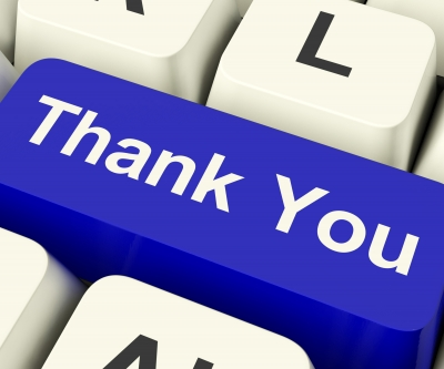Thank You Computer Key by Stuart Miles, freedigitalimages.net