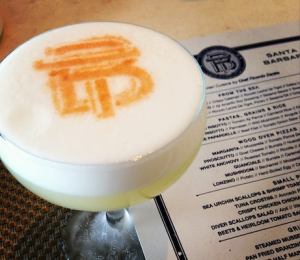 Blue Tavern's Pisco Sour features Porton Pisco, angostura bitters and cinnamon tincture. (courtesy photo)