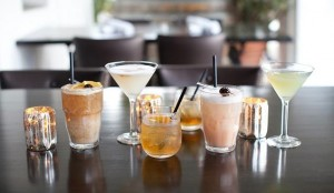 Intermezzo's new cocktails include (L-R) a Mai Tai, Pisco Sour, Santa Barbara Sazerac, Cherry Bomb and Tea with a Monk (courtesy photo)