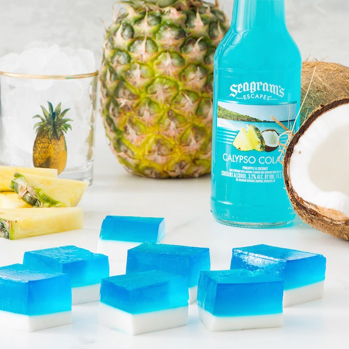 Calypso Cream Jello Cubes, courtesy Seagram's.