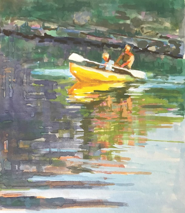Holli Harmon, Yellow Kayak.