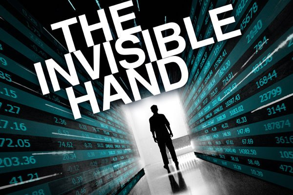 Ensemble Theatre's production of The Invisible Hand, April 12-29. Courtesy photo.