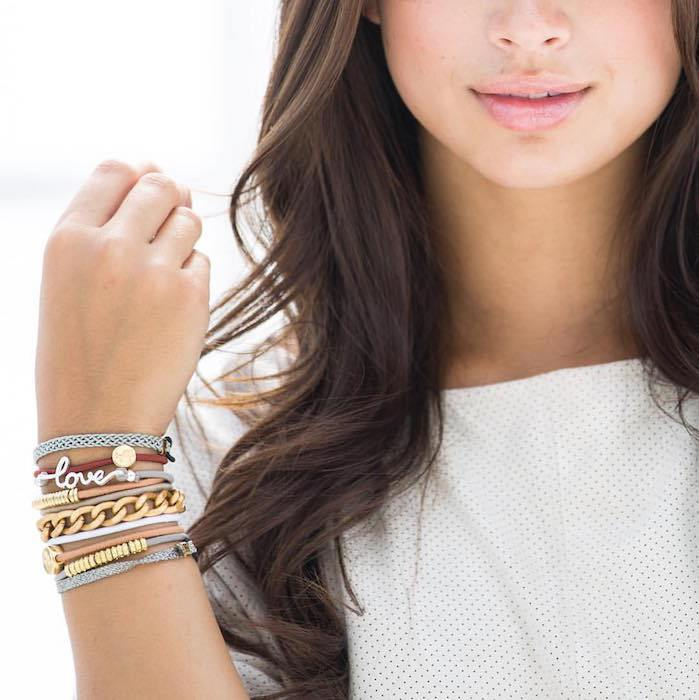 By Lilla hair ties that double as bracelets, courtesy photo.