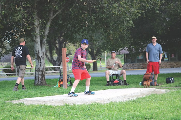 Cachuma Lake disk golf is fun for all ages. Photo courtesy County of Santa Barbara.