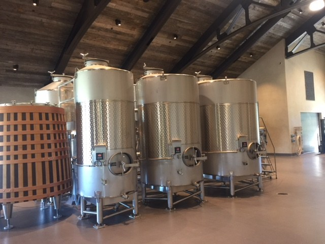 Inside Spear Winery, photo by Leslie Dinaberg.