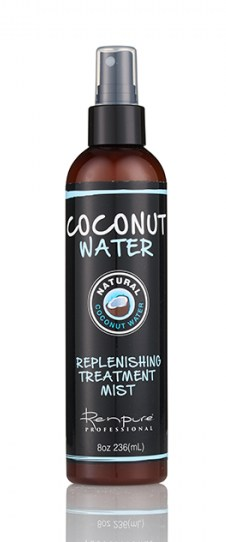 Renpure Black Line Coconut Water Replenishing Treatment Mist, courtesy photo.
