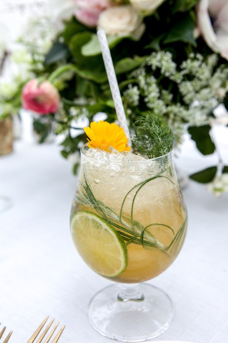 The Bear and Star's Herb Gin 'n Tonic, with Cutler's artisan gin, lime juice, simple syrup, quinine powder & seasonal fresh herbs from the garden. Courtesy photo.