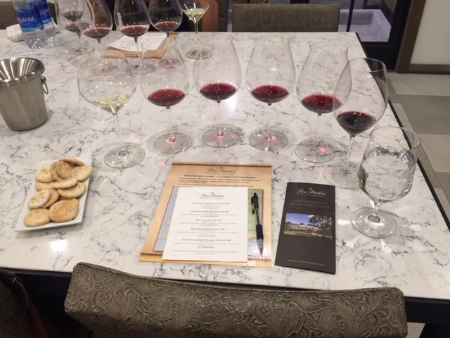 Tasting at Fess Parker Winery, photo by Leslie Dinaberg.