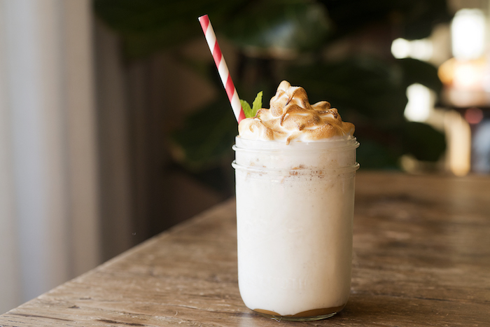 Finch & Fork's Fire Roasted Milk Shake is a great way to top off your meal, courtesy photo.