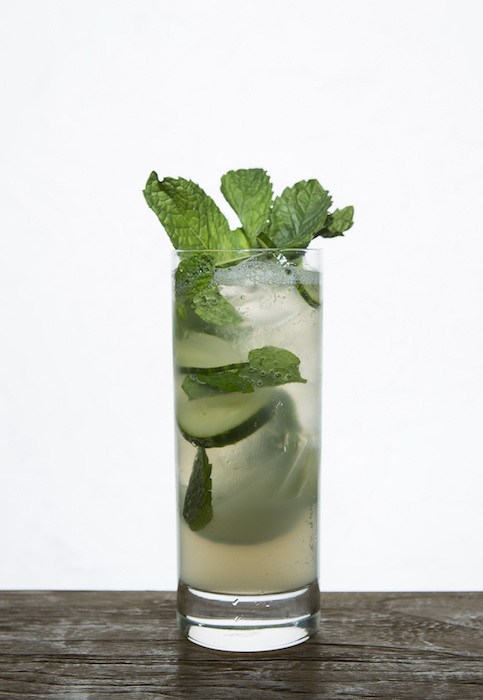 MB Steak Spicy Cucumber Margarita, photo by Jim Decker, courtesy Wicked Creative.