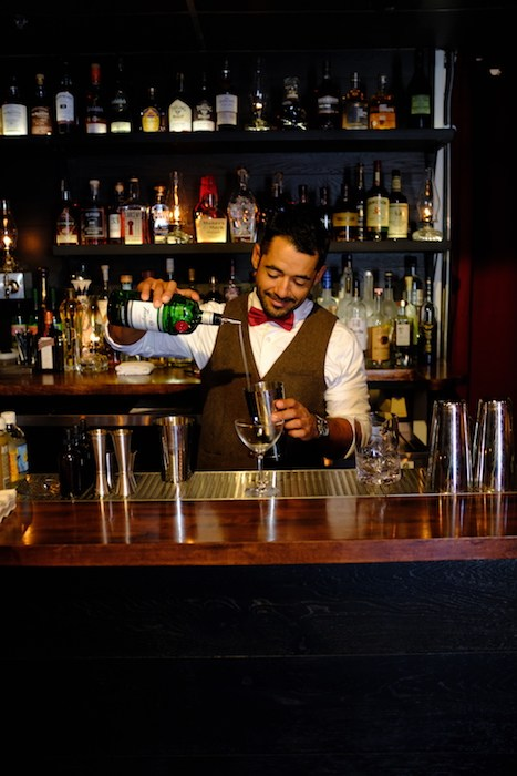 "The ""master of ceremonies"" at Chaplin's Martini Bar mixes up a variety of golden era-inspired cocktails, courtesy photo."