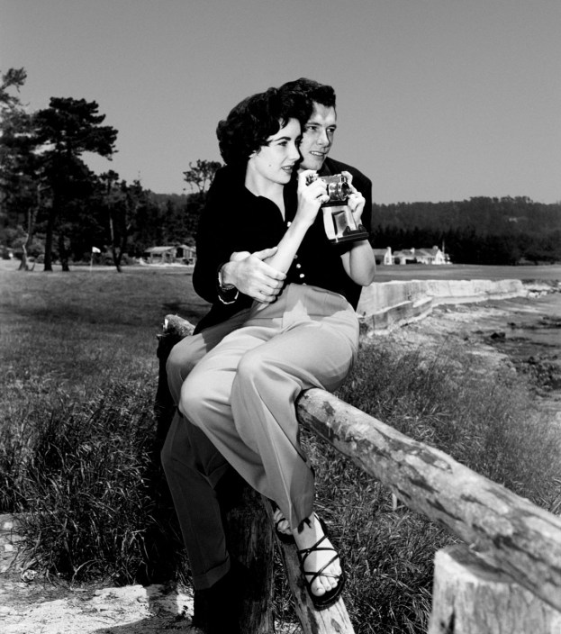 "Elizabeth Taylor celebrated her first honeymoon at Pebble Beach in 1950 with Conrad ""Nicky"" Hilton, Jr. Photo courtesy Pebble Beach Company Lagorio Archive."