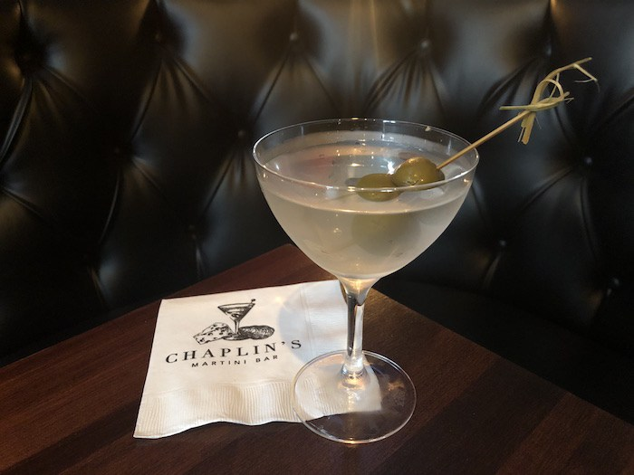 The perfect martini at Chaplin's Martini Bar, courtesy photo.