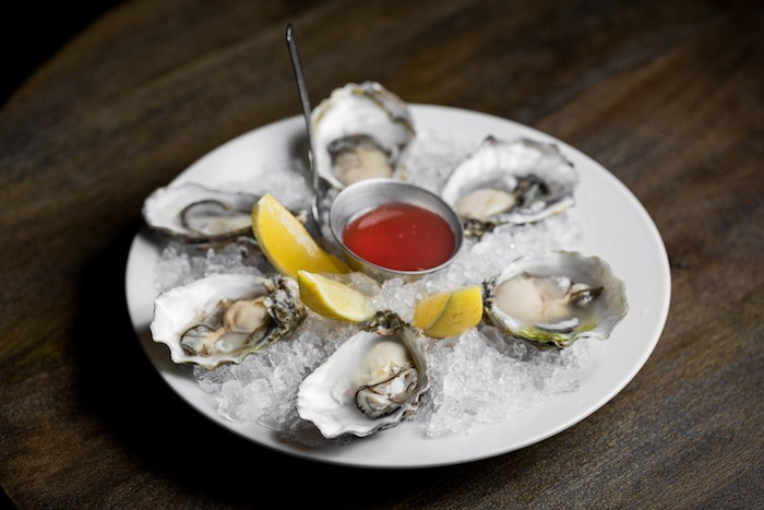 Oysters at Chaplin's Martini Bar, courtesy photo.