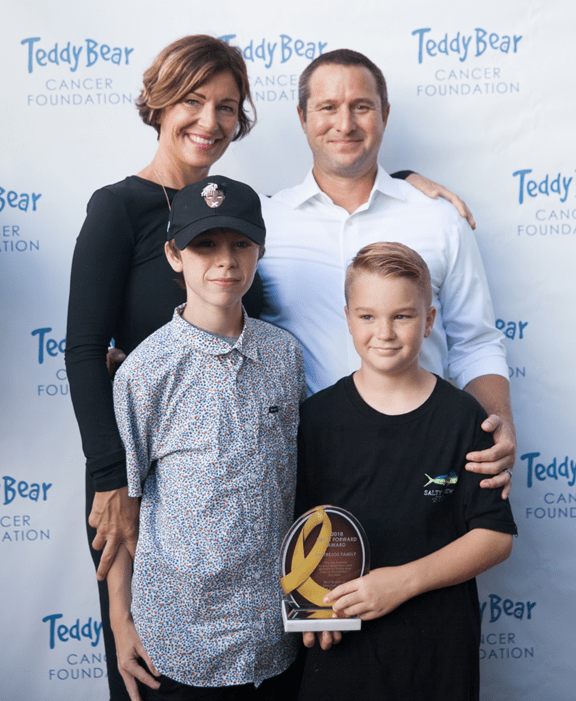 The Trejos family from Moorpark was presented with the Pay It Forward Award, courtesy Teddy Bear Cancer Foundation.