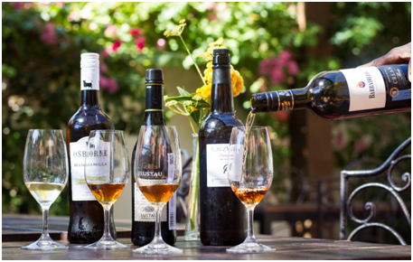 Loquita Sherry Tasting Flight, photo by Kate Winter.