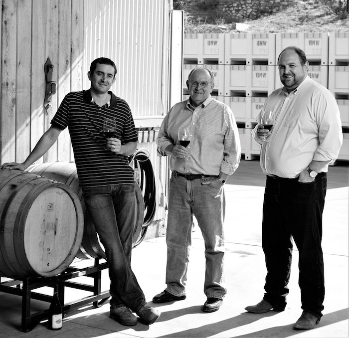 Nicholas Miller, Stephen Miller and Marshall Miller, proprietors of theBienNacido and Solomon Hills Estates. Courtesy photo.