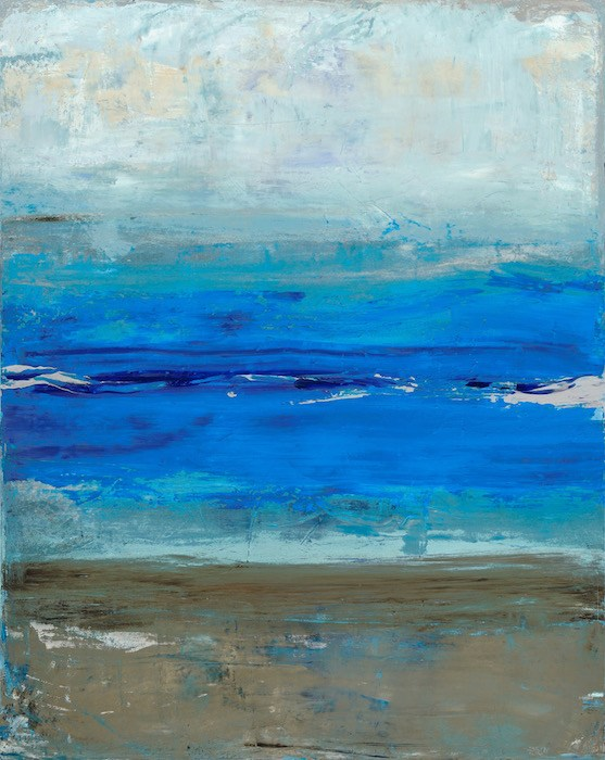 "Tanya Lozano, ""Beach,"" acrylic on canvas."