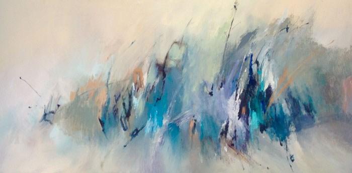 """Ann Shelton Beth, """"Wave Energy,"""" oil on canvas."""