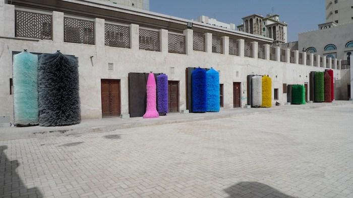 Lara Favaretto, Coppie Semplici (Simple Couples) , 2009, Installation view at Sharjah Biennial, UAE, 2009, Courtesy the Artist and Galleria Franco Noero.