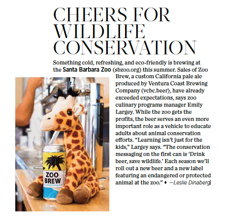 This story as it appeared in 805 Living, July/August 2019. Photo courtesy Santa Barbara Zoo.