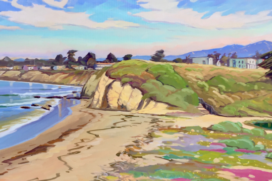 UCSB Campus Bluffs, painting by Chris Potter.