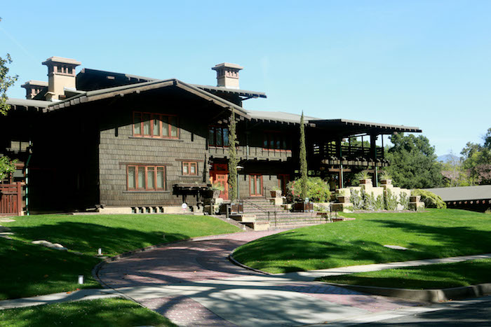 Gamble House in Pasadena is a 1908 National Historic Monument designed by Architect brothers Charles and Henry Greene. Photo courtesy Visit Pasadena.