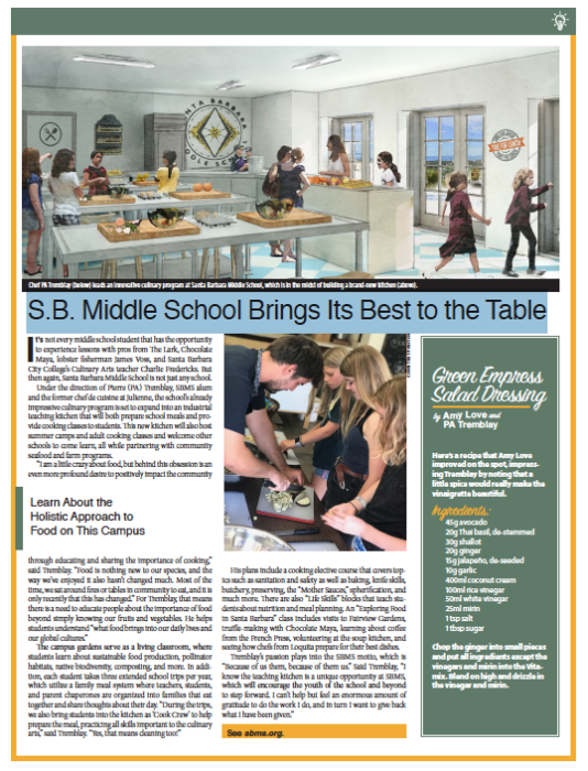 Santa Barbara Middle School, From Schools of Thought, Santa Barbara Independent, November 7, 2019.