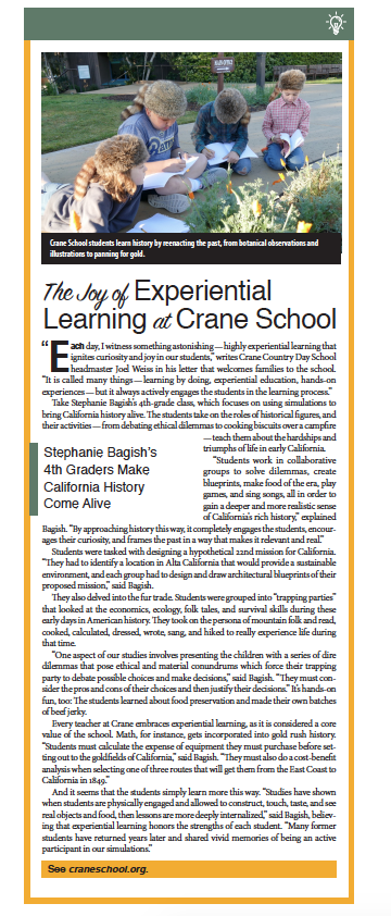 Crane School, From Schools of Thought, Santa Barbara Independent, November 7, 2019.