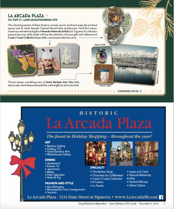 2019 Shopping Santa Barbara Gift Guide, SB Independent, December 5, 2019.