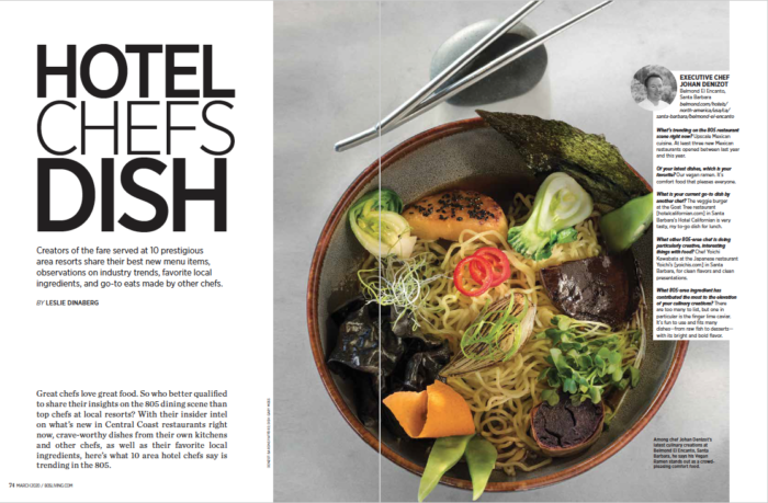 Opening spread 805 Living Hotel Chefs Dish March 2020