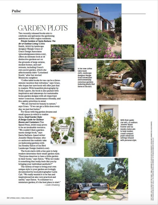 Gardens Books feature from 805 Living Magazine, Spring 2020.