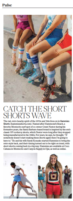 805 Living Summer 2020, Catch the Short Shorts Wave, story by Leslie Dinaberg. Hammies photos, clockwise from top, by Annabelle Sadler, Grant Nestor and Tony Kozusko.