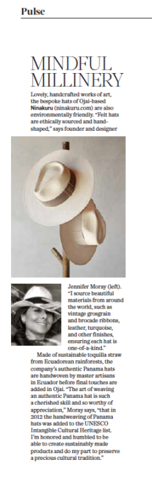 805 Living Summer 2020, Mindful Millinery, story by Leslie Dinaberg.