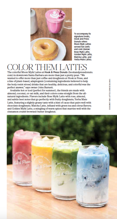 805 Living Summer 2020, Color Them Lattes, story by Leslie Dinaberg. Photos by Denisse Salinas.