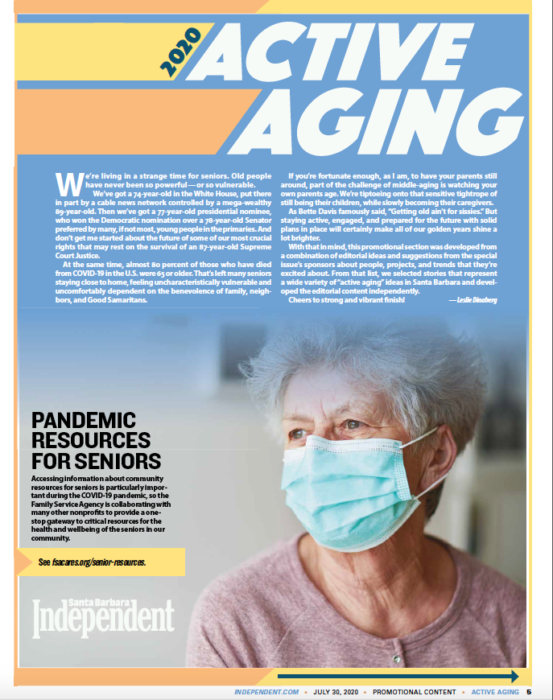 Introduction to Active Aging, Active Aging Special Section, July 30, 2020.
