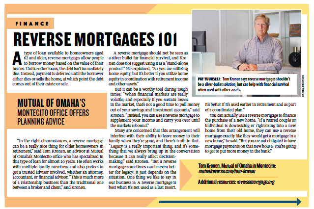 Reverse Mortgages 101, from Santa Barbara Independent, Active Aging Special Section, July 30, 2020.