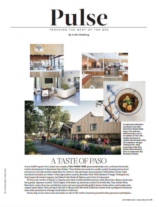 805 Living September 2020, A Taste of Paso, story by Leslie Dinaberg.