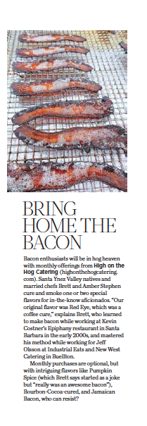 805 Living September 2020, Bring Home the Bacon, story by Leslie Dinaberg.