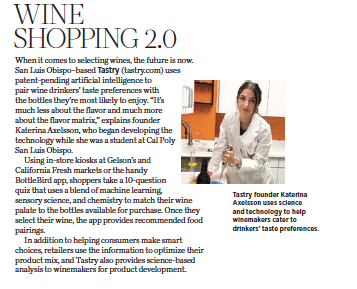 805 Living September 2020, Wine Shopping 2.0, story by Leslie Dinaberg.
