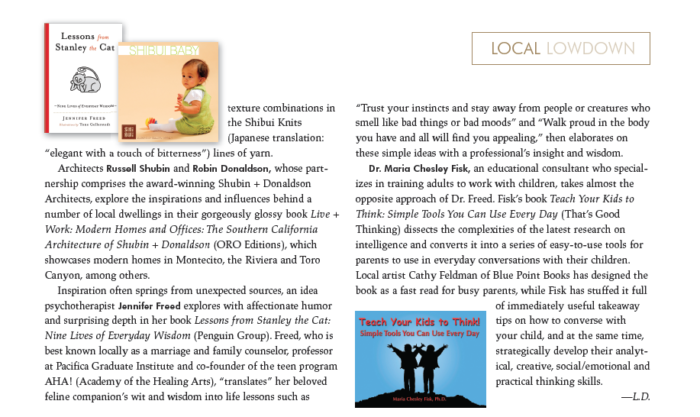 Top Shelf — Works by Local Authors, originally published in Santa Barbara Seasons, Fall 2010.