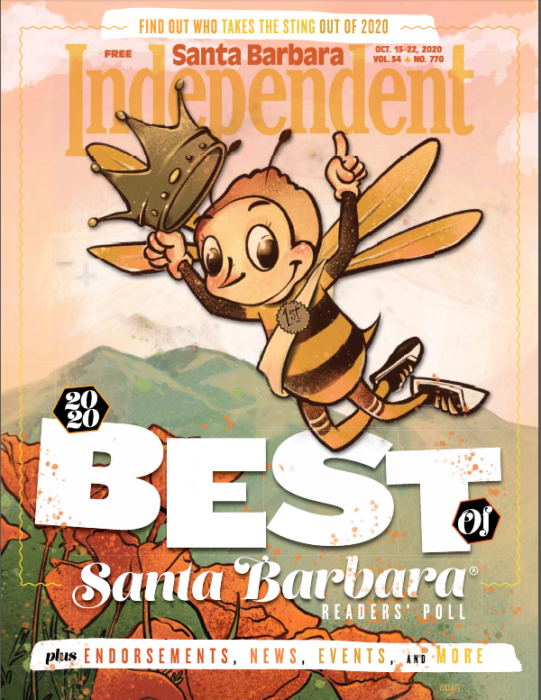 From Santa Barbara Independent, Best Of Issue cover, October 15, 2020.