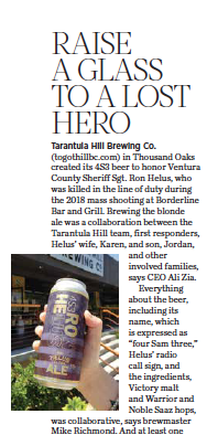 Toast local fallen Sheriff Sgt. Ron Helus with a beer brewed in his honor that also gives back, courtesy photo.