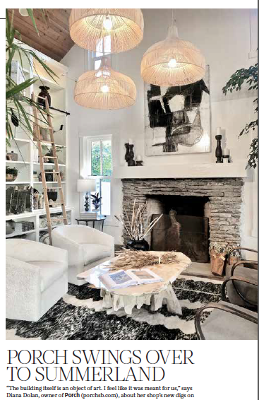 Shop for furnishings, textiles, and the works of local artists at Porch on Summerland's Lillie Avenue. Courtesy photo.