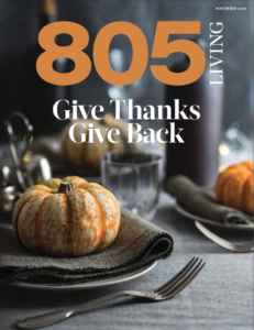 Cover of 805 Living Magazine, November 2020.