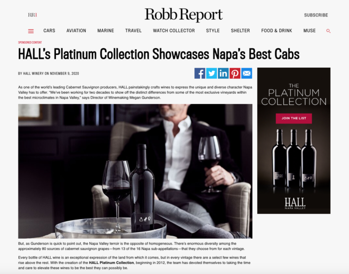 Hall's Platinum Collection, published in Robb Report, https://robbreport.com/sponsor/408234/?prx_t=qjoGAmjNIAk9wPA