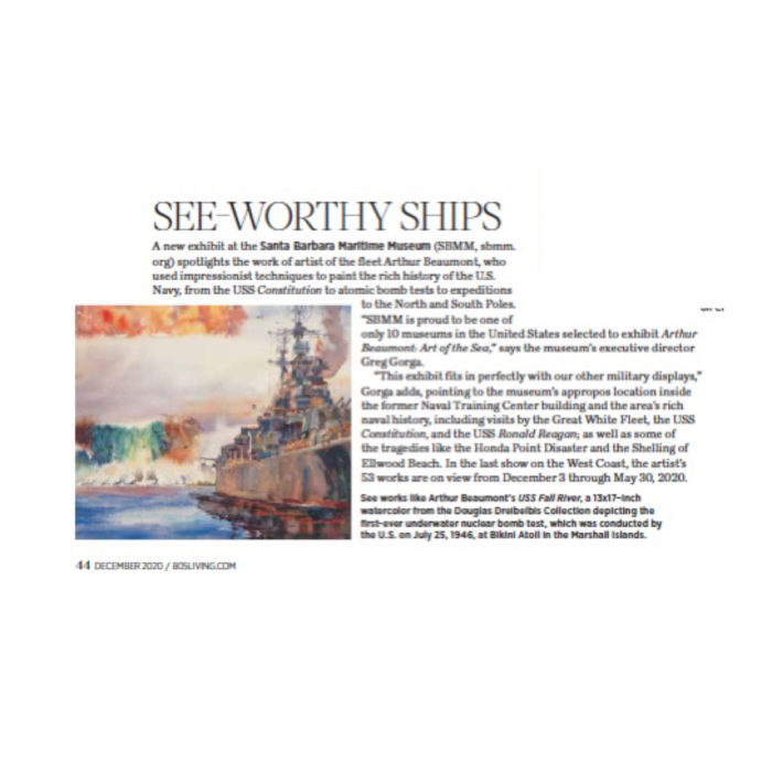 See-Worthy Ships, originally published in the December 2020 issue of 805 Living Magazine.