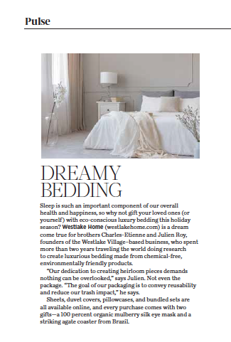 Dreamy Bedding, originally published in the December 2020 issue of 805 Living Magazine.